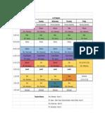 grade 5 student schedule