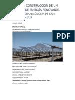 DISEÑO Y CONSTRUCCIÓN DE UN SISTEMA DE ENERGÍA RENOVABLE