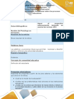 Anexo- Paso 0- Reconocimiento- Reflexionar Sobre Los Procesos Educativos