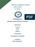 Tarea 1 Propedeutico de Español