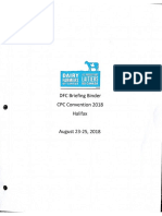Dairy Farmers of Canada Briefing Binder - CPC Convention 2018