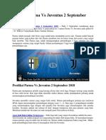 Prediksi Parma vs Juventus 2 September 2018
