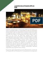 Planeamiento y Control de un Proyecto EPC en Primavera P6 PPM