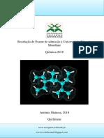 Resolução de Exame de Admissão UEM Quimica 2018