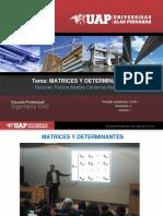 1._Matrices y Determinantes Algebra Lineal UAP 2018