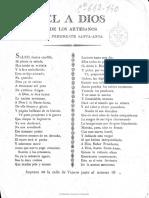 1833, El Dios de Los Artesanos a Santa Anna