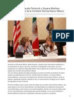 27-08-2018 - Gobernadoras Claudia Pavlovich y Susana Martínez clausuran trabajos de la Comisión Sonora-Nuevo México - elimparcial
