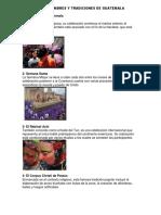 20 Costumbres y Tradiciones de Guatemala