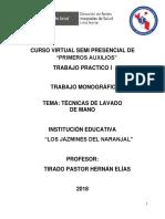 MONOGRAFIA Técnicas Lavado de Manos - Tirado Pastor Hernán