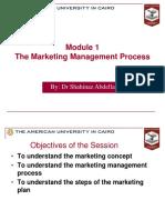 Marketing Module 1