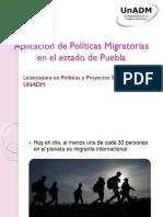 Aplicación de Políticas Migratorias en El Estado De
