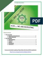 ACES 2011 Members Recruitment