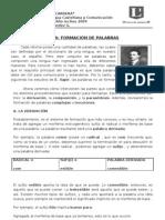 GUIA FORMACIÓN DE PALABRAS 2009
