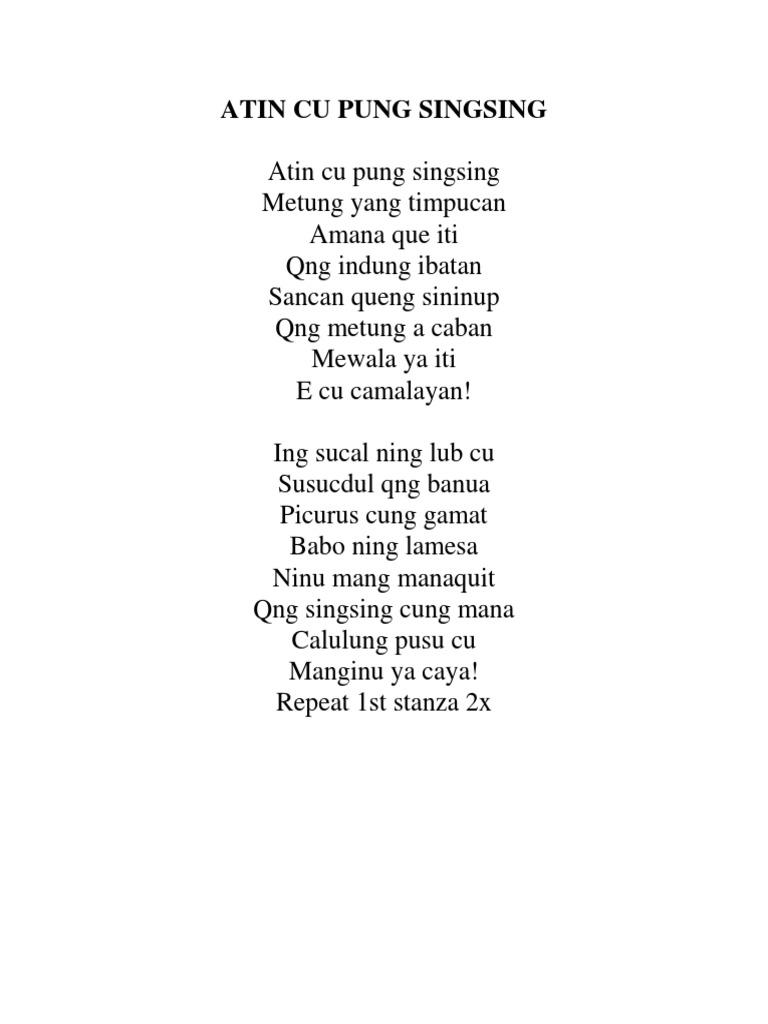 Pung historical background atin singsing cu The Kapampangan