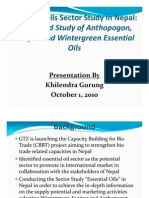 Sector Study of Essential Oils in Nepal_GTZ_Presentation_Oct 1, 2010