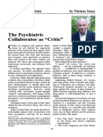 The Psychiatric Collaborator as Critic, by Thomas Szasz