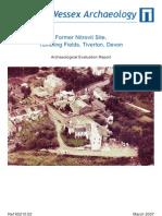 Former Nitrovit site, Tumbling Fields, Tiverton, Devon