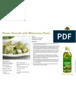 Potato Gnocchi With Watercress Pesto