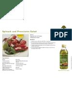 Spinach and Prosciutto Salad