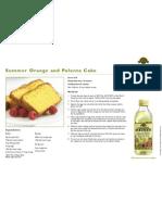 Summer Orange and Polenta Cake