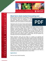 09012 Stock Market Forecasting Tool
