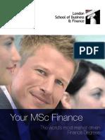MScFinance Leaflet