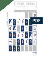 Astros 2019 St schedule