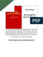 Juenger, Ernst - Der Kampf Als Inneres Erlebnis