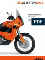 Bedienungsanleitung KTM 950 LC 8 Adventure 2003 (German)
