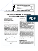 Structural Details to Increase Ductility of Connections