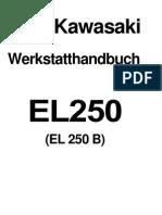 Werkstatthandbuch Kawasaki EL 250 (B) Eliminator (German)