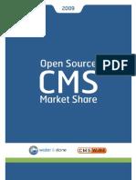 Open Source CMS Market Share 2009