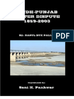 Sindh-Punjab Water Dispute 1859-2003, By