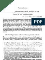 F. Dolbeau, La vie en prose de saint Marcel, éveque de Die. Histoire du texte et édition critique