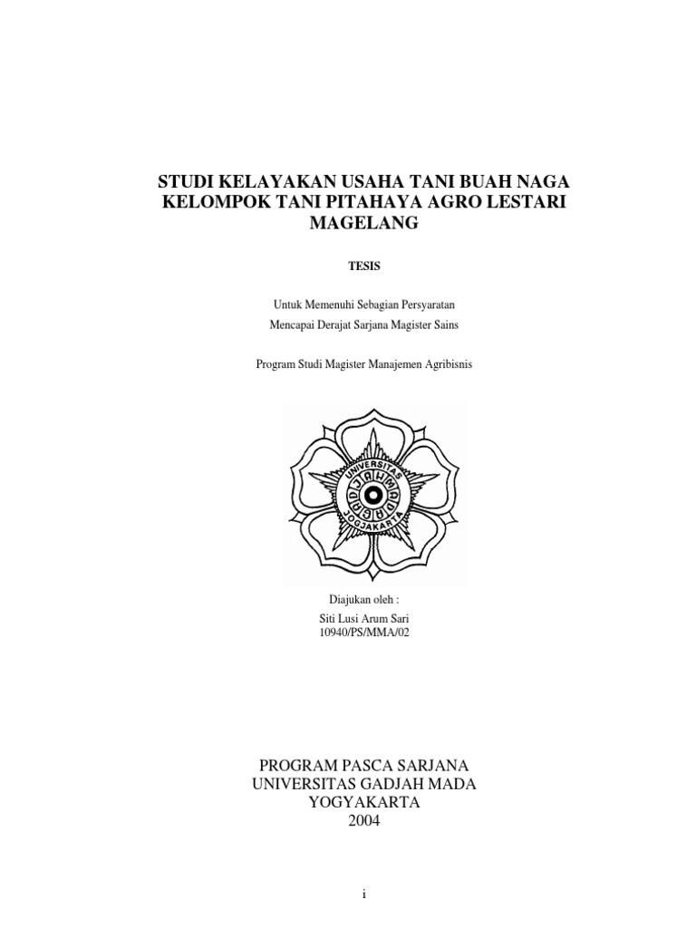 Proposal Studi Kelayakan Bisnis Ugm