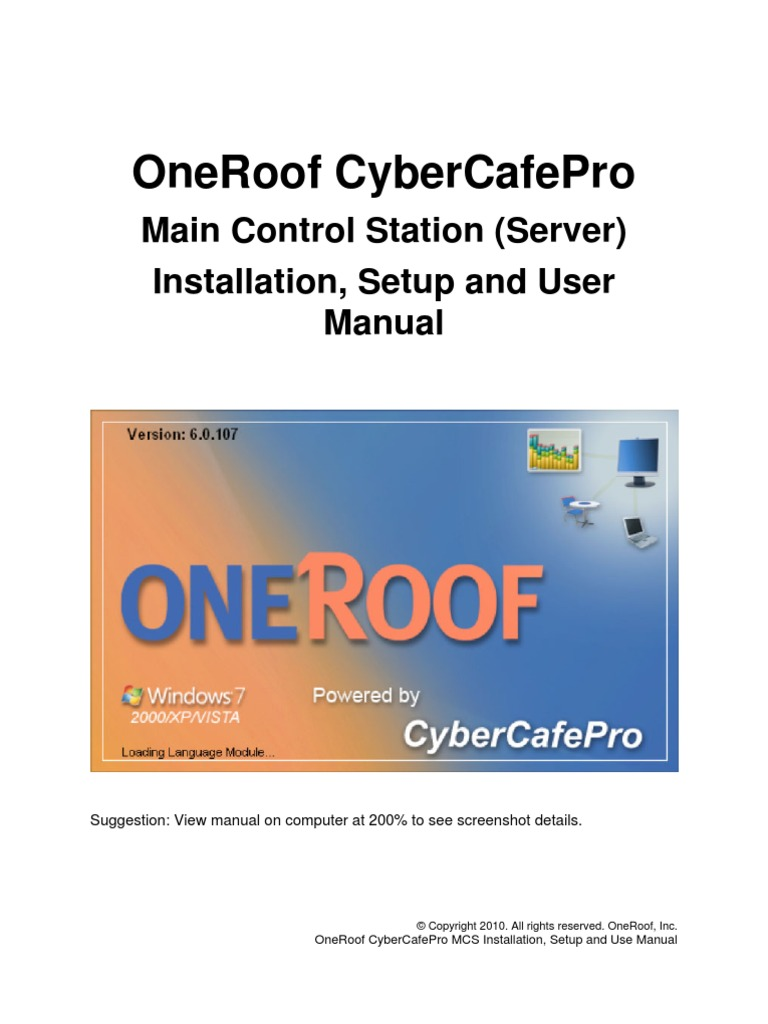 Cybercafepro main control station 6 0 265
