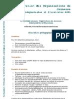 Détails de l offre - Détaché pédagogique - Confédération des Organisations de Jeunesse (COJ) (ressource 6495)[1]