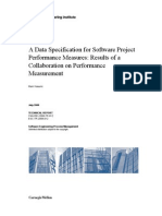 A Data Specification for Software Project Performance Measures