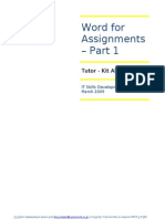 Word for Assignment Part 1