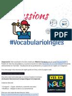Vocabulario de las profesiones en inglés con imagenes PDF y ejercicio - Trabajos u Ocupaciones