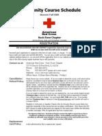 American Red Cross Course Schedule July -December 2008 FINAL