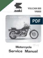 Werkstatthandbuch Kawasaki VN 800 Vulcan Englisch