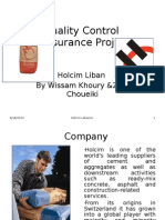 Quality Control &Assurance Project