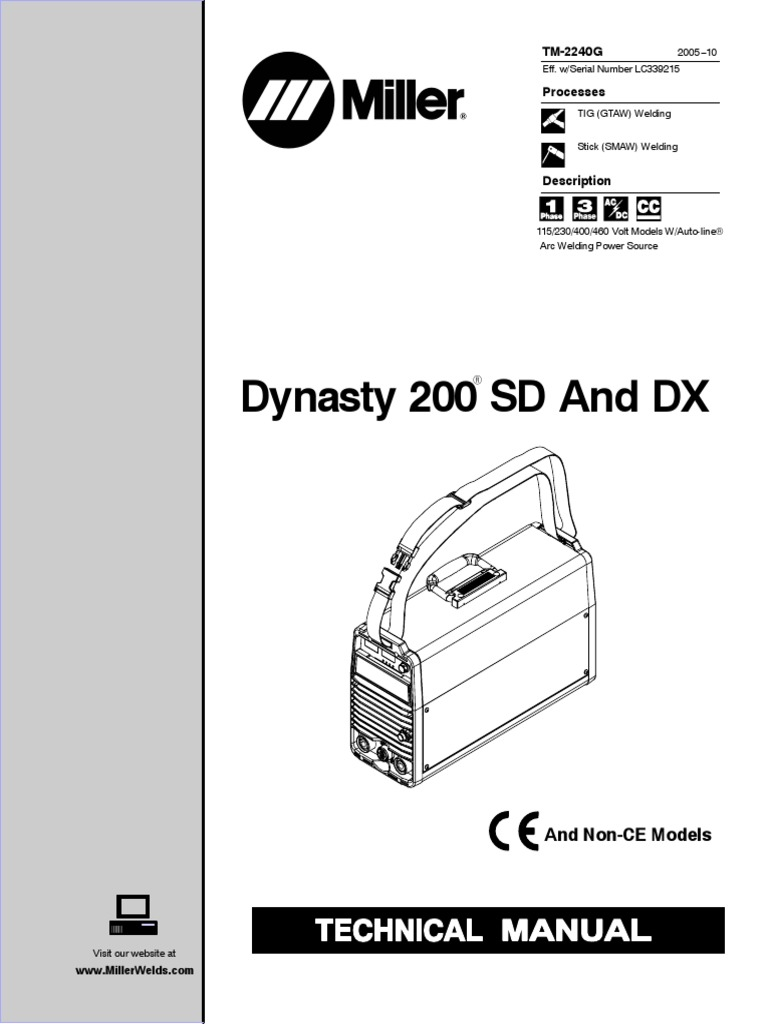 miller_dynasty_200sd_dx_technical-manual.pdf | Welding | Electrical  Components