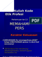 Mata Kuliah Kode Etik Profesi