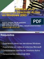 Mejores Practicas en Diseno de Directorio Activo en Windows Server 2003