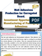 Hot Melt Adhesives Production for Corrugated Board