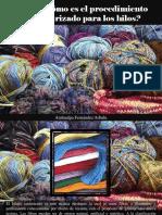 Atahualpa Fernández Arbulu - ¿Sabes Cómo Es El Procedimiento de Texturizado Para Los Hilos?