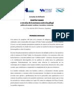 Fortín Yunka - Jornadas de Reflexión a 100 años de la matanza contra los pilagá - Primera Circular