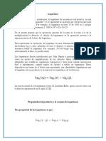 propiedades                                                                                 del                                                                                 producto                                                                                 y                                                                                 el                                                                                 cociente                                                                                 de                                                                                 logaritmos